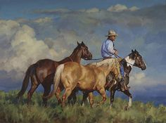 """""""Back to Pasture"""" by Jason Rich (Cowboy Artist)"""