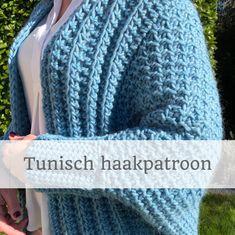 HAAKPATROON Tunisch gehaakt lente vest l cardigan l wrap I | Het Betere Bolwerk Crochet Hats, Vest, Golf, Fashion, Knitting Hats, Moda, La Mode, Fasion, Fashion Models