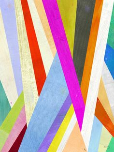Jazz up your room with this would make a great piece of wall art- Two Ems Diagonal Abstract