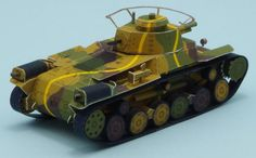 Japanese Medium Tank Type 97 Chi-Ha Paper Model In 1/72 Scale - by Lazy Life