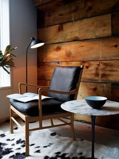 """designwithinreach: """" DWR.com Colonial Chair and Footstool Designed by Ole Wanscher, produced by Carl Hansen & Søn """""""