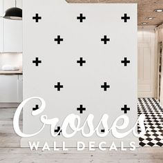 Crosses Wall Decal Pack, Modern Geometric Pattern Vinyl Wall Stickers WAL-2160