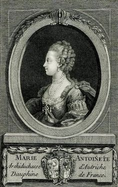 Marie Antoinette as Dauphine of France, 17th C engraving, French school