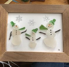 Sea Glass Crafts, Sea Crafts, Seashell Crafts, Rock Crafts, Christmas Pebble Art, Christmas Art, Sea Glass Beach, Sea Glass Art, Glass Christmas Decorations