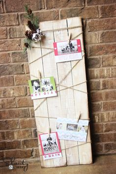 Super cute display! Use it for more than just Christmas cards! [diy christmas card display]
