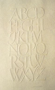 ✍ Sensual Calligraphy Scripts ✍ initials, typography styles and calligraphic art - Alphabets in relief