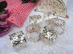 Vintage Tafelsilber - 6 zauberhafte Serviettenringe Silber shabby chic - ein Designerstück von artdecoundso bei DaWanda