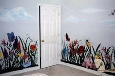 Beautiful and Colofrul Flowers Wall Murals Painting in Girls ...