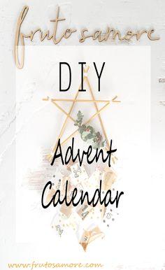 Calendario de adviento en forma de estrella de estilo nórdico http://www.frutosamore.com/blog/diy-estrella-de-adviento/