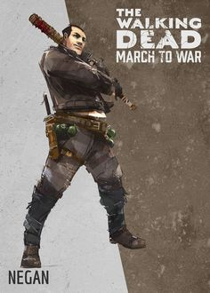 """gaignun: """"Negan art for The Walking Dead: March to War! Walking Dead Comics, The Walking Dead 3, Zombie Art, Dead Zombie, Rick Grimes Comic, Walking Dead Characters, Fictional Characters, Walking Dead Pictures, Comics"""