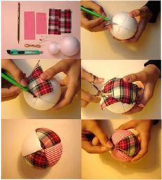 como forrar pelotitas de madera con tela lroto fie - Buscar con Google