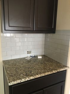 3x6 smoke subway tile Decor, Subway Tile, Kitchen, Saratoga Homes, Home Decor, Room, Dining, Kitchen Cabinets, Dining Room