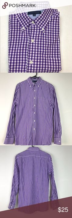 cfeb51dd Shop Men's Tommy Hilfiger Purple White size 15 Dress Shirts at a discounted  price at Poshmark. Description: Size 15 ▫️Chest: 32 inches ▫️Length: 30 ...