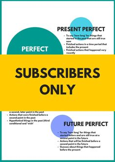 Perfect Tenses Infographic