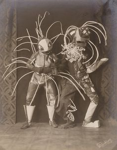 "Lavinia Schulz and Walter Holdt, dance costume for ""Toboggan"" (1924). Photo by Minya Diez-Dührkoop, black and white positive on silver gelatin paper. Collection Museum für Kunst und Gewerbe Hamburg (MKG) (photo and costume)."