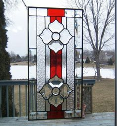Stained Glass Double Beveled Flowers - by SGHovel