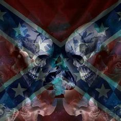 Southern Heritage, Southern Pride, Skull Tattoos, Body Art Tattoos, Rebel Flag Tattoos, Deer Head Tattoo, Rebel Flags, Cool Backgrounds Wallpapers, Civil War Flags