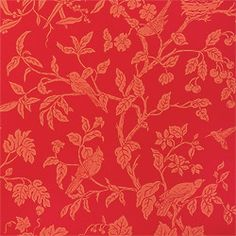 Thibaut Damask Resource - Tree of Life - Wallpaper - Coral