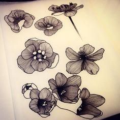 Fleurs Sauvages 3.0... Dispo pour être tatoué! Pour réserver >>…