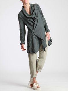 Asymmetric Jacket made of Tencel-Linen by LURDES BERGADA