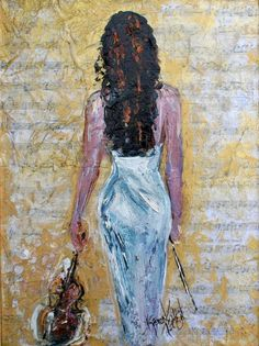 Violin Inspiration 18 x 24 Gallery Quality Giclee by Karensfineart