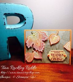 ICS Blog Hop Introducing the Holiday Catalog, Stampin' Up! Lighthearted Leaves Emboss Resist