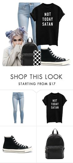 """Untitled #242"" by maddie-much ❤ liked on Polyvore featuring Levi's, Converse and French Connection"