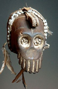 Oceanic Masks - Skull from Asmat, Sepik River, PNG
