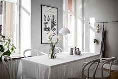 For my latest home tour I'm taking you to the Swedish city of Gothenburg for a peek at a beautiful grey and white apartment that's brimming with inspiration for simple spring styling. Room Interior, Interior Design Living Room, Living Room Designs, Couple Room, Light Grey Walls, Gray Walls, White Apartment, Nordic Design, Scandinavian Home