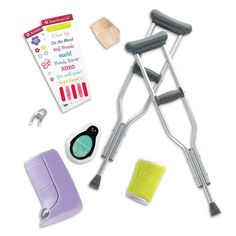 American Girl Feel Better Kit Crutches Cast First Aid Stickers Doll Accessories American Girl Outlet, American Girl Doll Sets, Diy Doll, Doll Crafts, Girl Doll Clothes, Girl Dolls, Arm Cast, Journey Girls, Our Generation Dolls