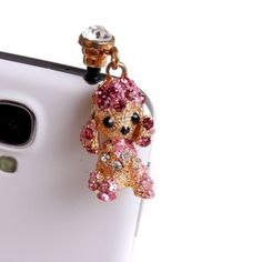Autofor 3.5mm Luxury Cute Lovely Poodle Dog Dot Pattern Bling Shine Shinning Flash Crystal Cellphone Charms Stoppers Earphone Jack Anti Dust Plug Ear Jack Cap Headphone Jack For Samsung Galaxy S3 S4 N7100 Note2 I9300 I9500 Iphone 4 4S 5 Ipad Ipod Touch Sony Nokia Motororal LG Lenovo And Other 3.5 mm Earphone Jack by Autofor, http://www.amazon.com/dp/B00CGD5XF6/ref=cm_sw_r_pi_dp_kMsQrb1B22CA5