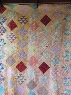 Antique Vintage FLYING GEESE BLOCK Quilt