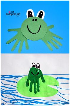 Easy to make Recycled CD Frog Craft