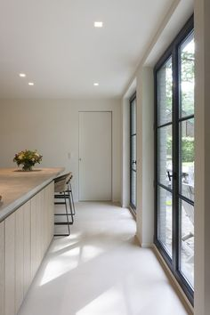 for the house Kitchen Interior, Modern Interior, Interior Architecture, Interior Design, Windows And Doors, Black Windows, Home And Living, Home Kitchens, Interior Decorating