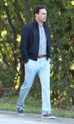 Sept. 17, 2012: Jon Hamm walks alone.
