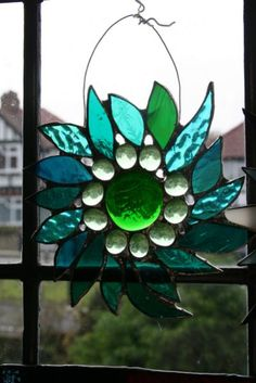 Chiaki's work: Stained Glass Ornament