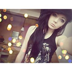 black-emo-hair ❤ liked on Polyvore featuring beauty products, haircare, hair styling tools, hair, people, girls, hairstyles and pictures