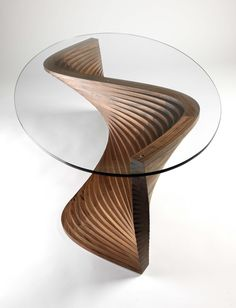 Sidewinder by David Tragen                                                                                                                                                                                 More Coffee Shop Furniture, Unique Furniture, Table Furniture, Wooden Furniture, Furniture Design, Walnut Coffee Table, Coffee Tables, Glass Table, Bathroom Interior Design