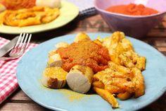 """Low Carb Rezepte von Happy Carb: Currywurst mit Cheesy-Kürbis-Pommes - Lecker """"Currywurst mit Pommes"""" und dazu mit gutem Gewissen."""