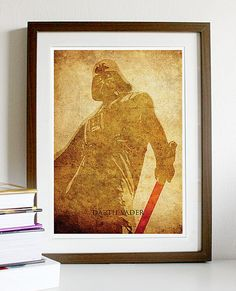 Star Wars Darth Vader Vintage A3 Poster Print by Posterinspired, $18.00