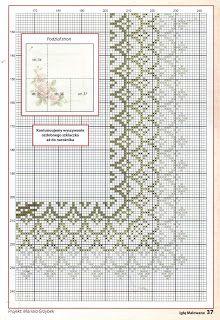 Free shema: Aranan güllü masa örtüsü şeması Cross Stitch Borders, Cross Stitch Rose, Cross Stitch Flowers, Cross Stitching, Cross Stitch Patterns, Ribbon Embroidery, Cross Stitch Embroidery, Embroidery Patterns, Crochet Quilt