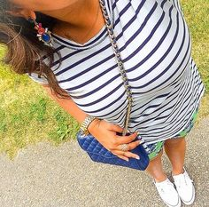 Stripes + Floral Print Mixing (summer outfit idea)
