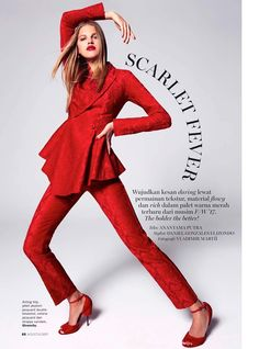 Kim Riekenberg turns up the heat in the August 2017 issue of Marie Claire Indonesia. Photographed by Vladimir Marti, the German model poses in all red looks for the fashion editorial. Stylist Daniel Gonzalez Elizondo dresses Kim in scarlet pieces from brands such as Chanel, Givenchy and Max Mara. From elegant dresses to chic separates,...[Read More]