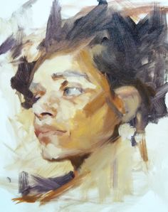 Richard Schmid.  Not a demo but early stage in a painting.