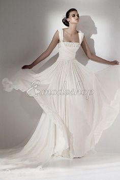 Natürliche Taile a linie informelles Modern sexy Brautkleid