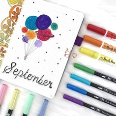 I'm very happy to show you my cover page for September ! Are you excited for my space and galaxy theme this month ? Bullet Journal Month, Bullet Journals, Galaxy Theme, Journal Covers, Cover Pages, Drawing Tips, Bujo, You And I, Hand Lettering