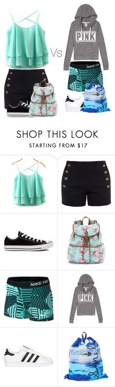 """""""1st month of middle school vs second month"""" by musicislife166 ❤ liked on Polyvore featuring Chloé, Converse, Candie's, NIKE and adidas Originals"""