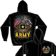 US Army Double Flag Long Sleeve Shirt