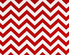 1m Premier Prints Fabric - Zigzag Lipstick Red White PER METRE chevron curtains