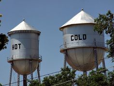 Funny water towers by josephleenovak, via Flickr